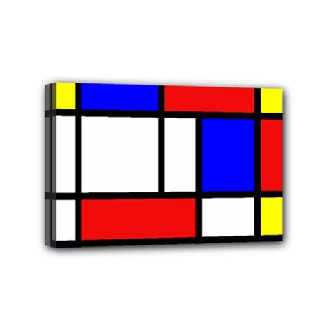 Piet Mondrian Mondriaan Style Mini Canvas 6  X 4