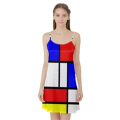 Piet Mondrian Mondriaan Style Satin Night Slip by yoursparklingshop