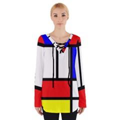 Piet Mondrian Mondriaan Style Tie Up Tee