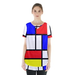 Piet Mondrian Mondriaan Style Skirt Hem Sports Top