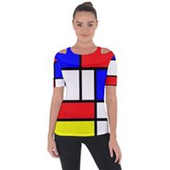 Piet Mondrian Mondriaan Style Short Sleeve Top