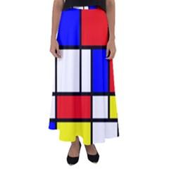 Piet Mondrian Mondriaan Style Flared Maxi Skirt