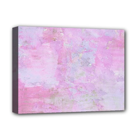 Soft Pink Watercolor Art Deluxe Canvas 16  X 12