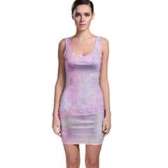 Soft Pink Watercolor Art Bodycon Dress