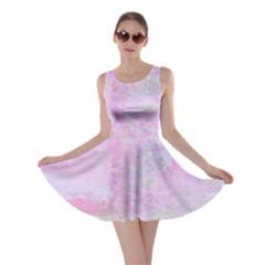 Soft Pink Watercolor Art Skater Dress