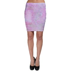 Soft Pink Watercolor Art Bodycon Skirt