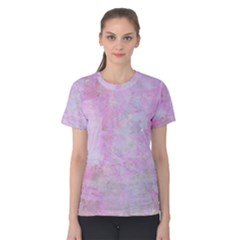 Soft Pink Watercolor Art Women s Cotton Tee