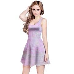 Soft Pink Watercolor Art Reversible Sleeveless Dress