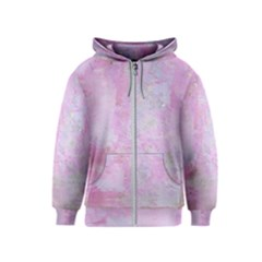Soft Pink Watercolor Art Kids  Zipper Hoodie