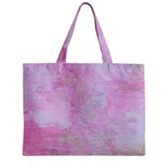 Soft Pink Watercolor Art Zipper Mini Tote Bag