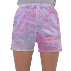 Soft Pink Watercolor Art Sleepwear Shorts