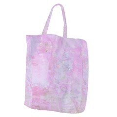 Soft Pink Watercolor Art Giant Grocery Zipper Tote