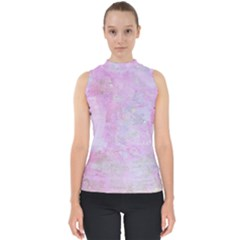 Soft Pink Watercolor Art Shell Top