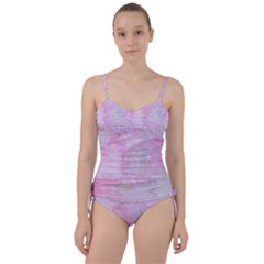 Soft Pink Watercolor Art Sweetheart Tankini Set