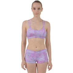 Soft Pink Watercolor Art Women s Sports Set