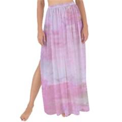 Soft Pink Watercolor Art Maxi Chiffon Tie Up Sarong