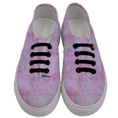 Soft Pink Watercolor Art Men s Classic Low Top Sneakers