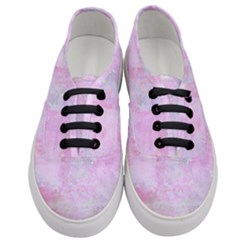 Soft Pink Watercolor Art Women s Classic Low Top Sneakers