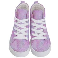 Soft Pink Watercolor Art Kid s Hi Top Skate Sneakers