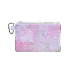 Soft Pink Watercolor Art Canvas Cosmetic Bag (small)