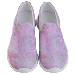 Soft Pink Watercolor Art Men s Lightweight Slip Ons