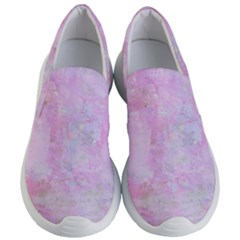 Soft Pink Watercolor Art Women s Lightweight Slip Ons