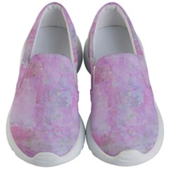 Soft Pink Watercolor Art Kid s Lightweight Slip Ons