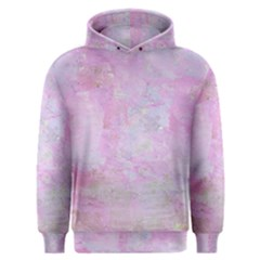Soft Pink Watercolor Art Men s Overhead Hoodie