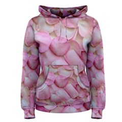Romantic Pink Rose Petals Floral  Women s Pullover Hoodie