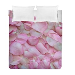 Romantic Pink Rose Petals Floral  Duvet Cover Double Side (full/ Double Size)
