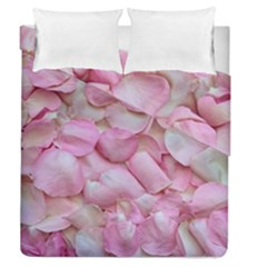 Romantic Pink Rose Petals Floral  Duvet Cover Double Side (queen Size)
