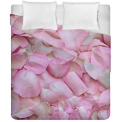 Romantic Pink Rose Petals Floral  Duvet Cover Double Side (california King Size) by yoursparklingshop