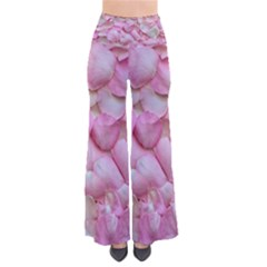 Romantic Pink Rose Petals Floral  So Vintage Palazzo Pants