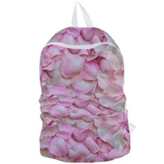 Romantic Pink Rose Petals Floral  Foldable Lightweight Backpack by yoursparklingshop