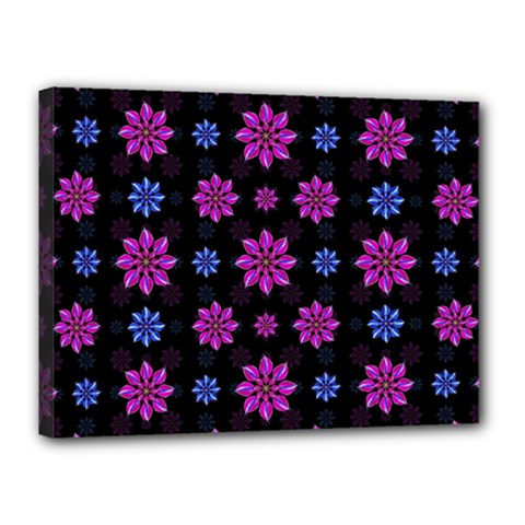 Stylized Dark Floral Pattern Canvas 16  X 12  by dflcprints