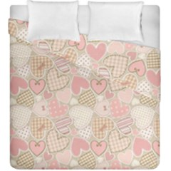 Cute Romantic Hearts Pattern Duvet Cover Double Side (king Size)