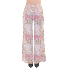 Cute Romantic Hearts Pattern So Vintage Palazzo Pants