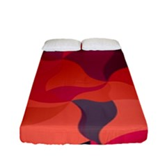 Red Orange Yellow Pink Art Fitted Sheet (full/ Double Size) by yoursparklingshop