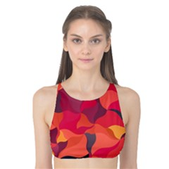 Red Orange Yellow Pink Art Tank Bikini Top