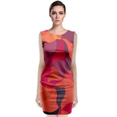 Red Orange Yellow Pink Art Classic Sleeveless Midi Dress