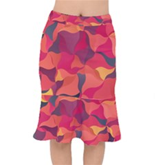 Red Orange Yellow Pink Art Mermaid Skirt