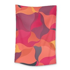 Red Orange Yellow Pink Art Small Tapestry