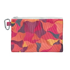 Red Orange Yellow Pink Art Canvas Cosmetic Bag (large)
