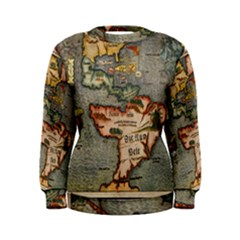 Vintage Map Women s Sweatshirt