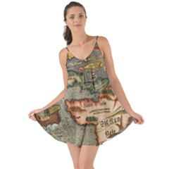 Vintage Map Love The Sun Cover Up