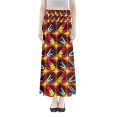 Feathers Full Length Maxi Skirt