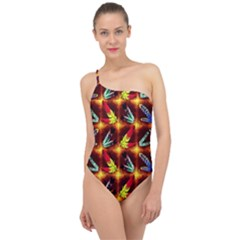 Feathers Classic One Shoulder Swimsuit