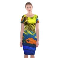 I Wonder 2 Classic Short Sleeve Midi Dress