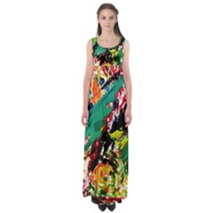 Tulips First Sprouts 2 Empire Waist Maxi Dress