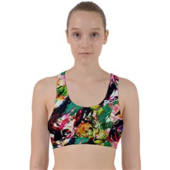 Tulips First Sprouts 2 Back Weave Sports Bra